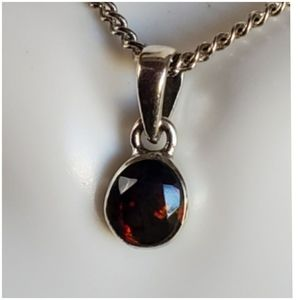 Jewelry - 1ct Black Chalama Fire Opal Pendant/Necklace